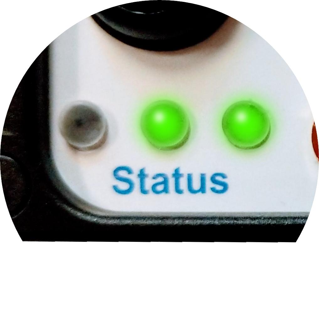 Simple, intuitive status indicators